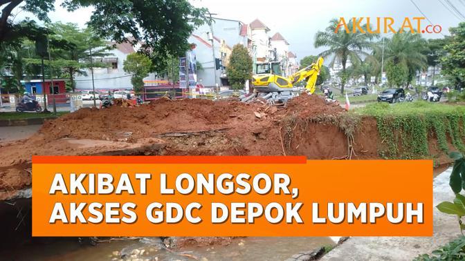 Akibat Longsor, Jalan di GDC Depok Lumpuh