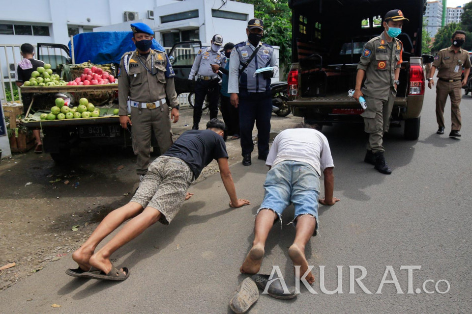 Operasi Yustisi di Ciputat Jaring Pelanggar Protokol Kesehatan - Foto 3