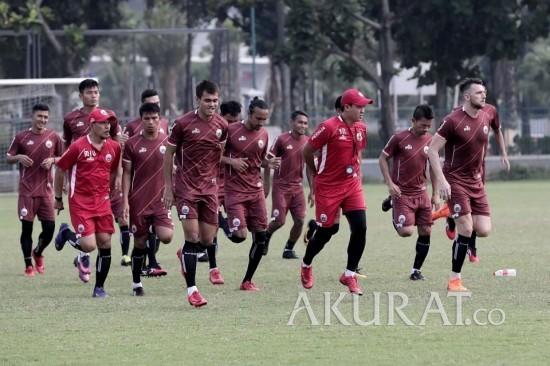 [FOTO] Sesi Latihan Persija Jakarta Jelang Hadapi Home United