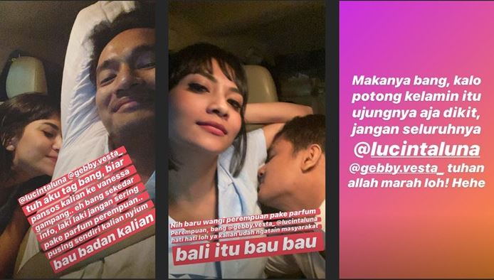 Disindir Bau Badan, Vanessa Angel - Bibi Ardiansyah Pamer Saling Cium Ketek - Foto 1