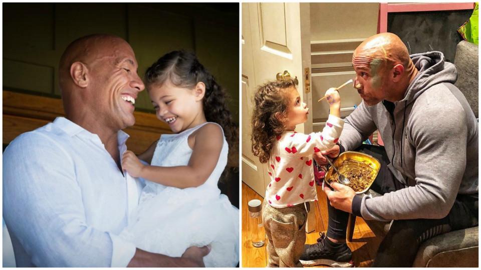 Selalu Sangar di Film, 10 Bukti Dwayne 'The Rock' Johnson Seorang Ayah Idaman