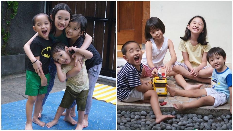 10 Potret Asyiknya Anak-anak Zaskia Adya Mecca Bermain Bersama di Rumah, Seru Banget!