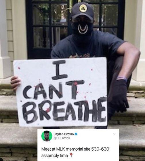 5 Aksi Atlet Dunia Tunjukkan Simpati Kasus George Floyd, Berkendara 15 Jam Demi Ikut Demo - Foto 3