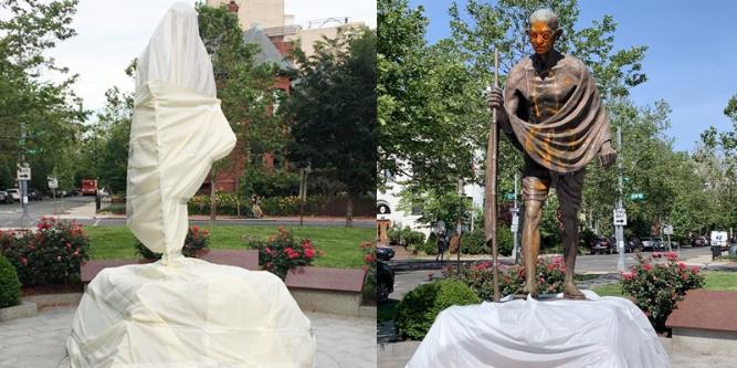 Mahatma Gandhi hingga Winston Churchill, 5 Patung Tokoh Dunia Ini Jadi Sasaran Vandalisme dalam Aksi Black Lives Matter - Foto 1