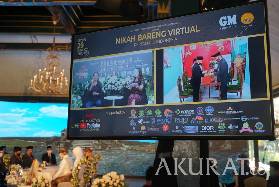 Pertama di Indonesia, Begini Potret Nikah Bareng Virtual Sepuluh Pasangan Pengantin DIY - Foto 3