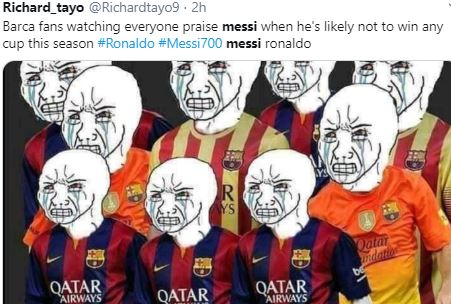 5 Meme Lucu Lionel Messi usai Bikin 700 Gol, Jagoan Mah Bebas - Foto 4
