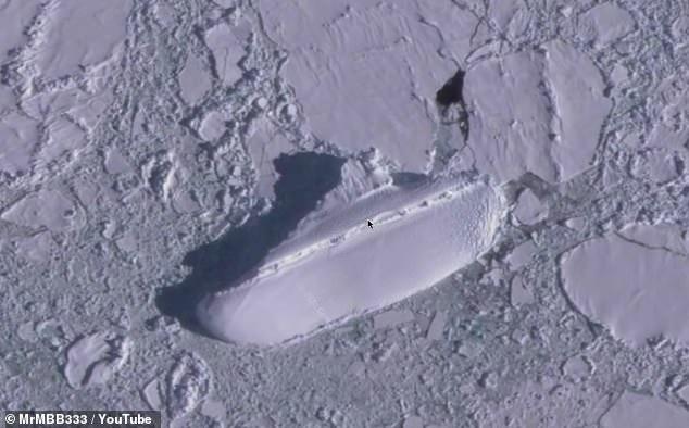 Ada Kapal Es di Antartika, Netizen Sebut Itu Basecamp Rahasia Nazi