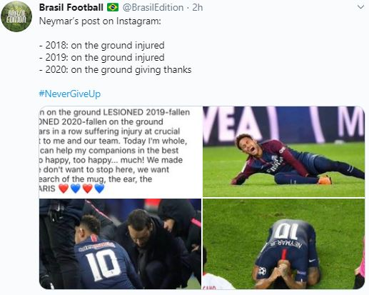 Ungkapan Menyentuh Neymar usai PSG ke Final Liga Champions, Kenang Momen Sedih Cedera - Foto 1