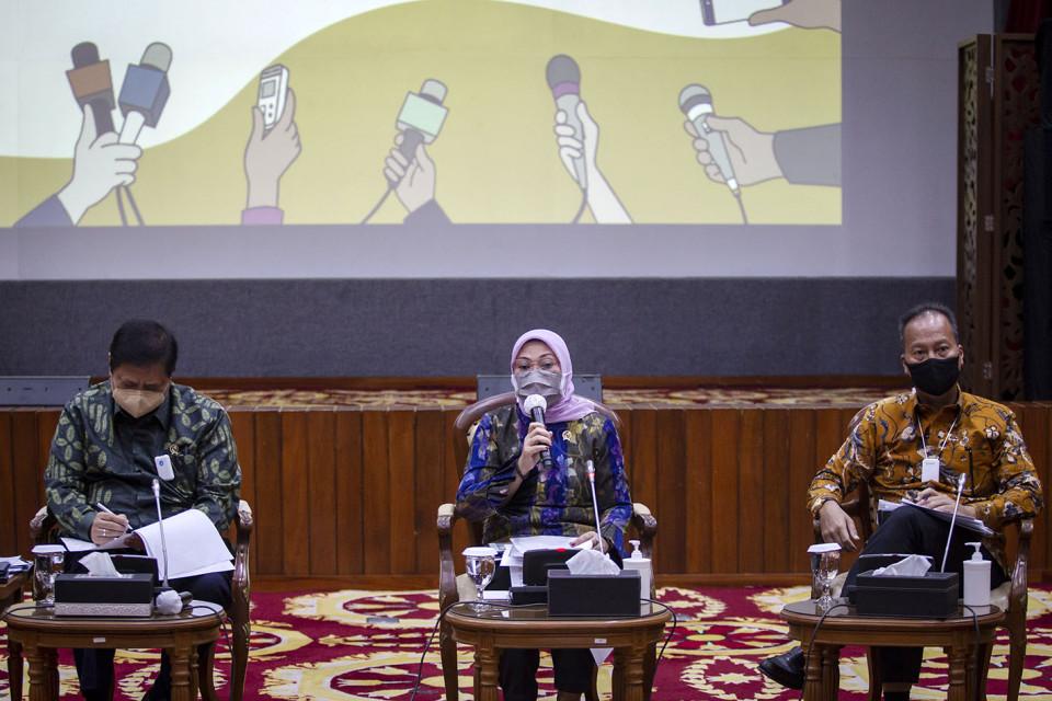 Sejumlah Menteri Beri Penjelasan Tentang UU Cipta Kerja