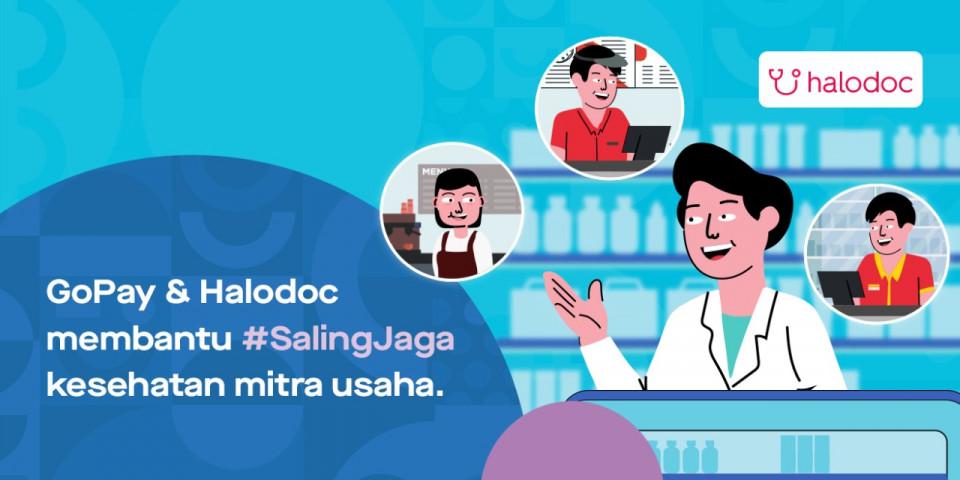 Gandeng Halodoc, GoPay Jaga Kesehatan Mitra Usaha dengan Bagikan Promo Khusus - Foto 1