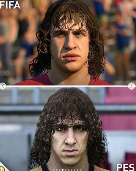 5 Foto Perbedaan Wajah Pemain di Game FIFA dan PES, Miripan Mana - Foto 3
