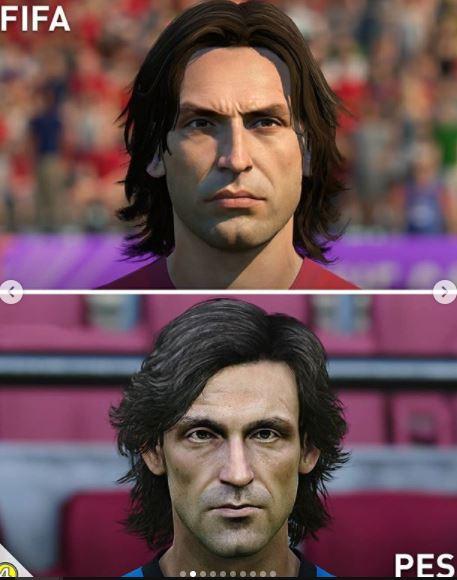 5 Foto Perbedaan Wajah Pemain di Game FIFA dan PES, Miripan Mana - Foto 4