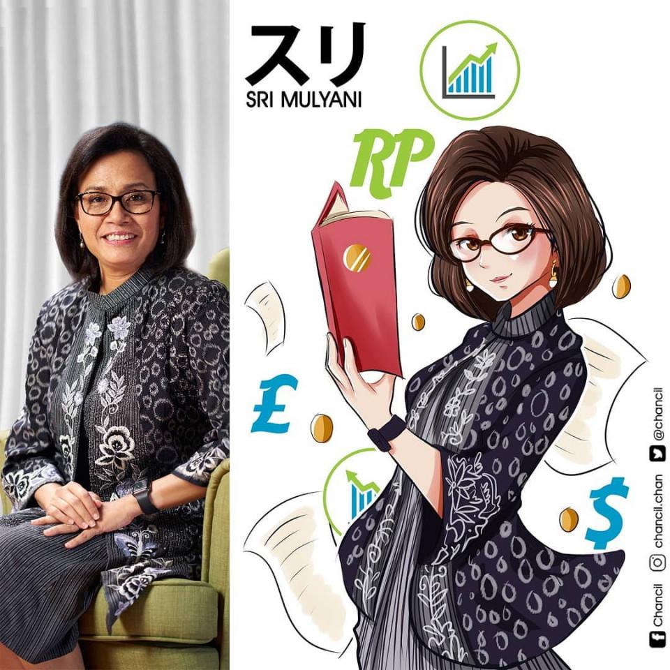 7 Potret Keren Menteri Kabinet Indonesia Maju Versi Karakter Anime, Bikin Pangling - Foto 1