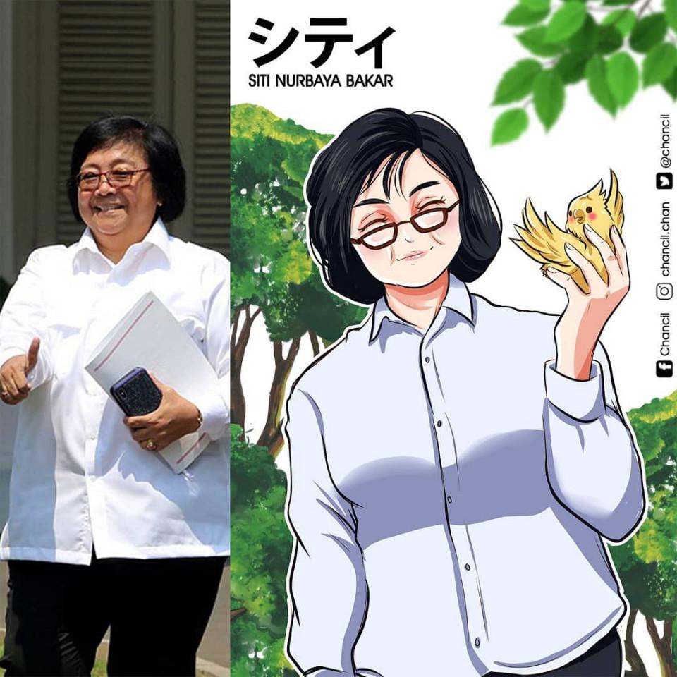 7 Potret Keren Menteri Kabinet Indonesia Maju Versi Karakter Anime, Bikin Pangling - Foto 3