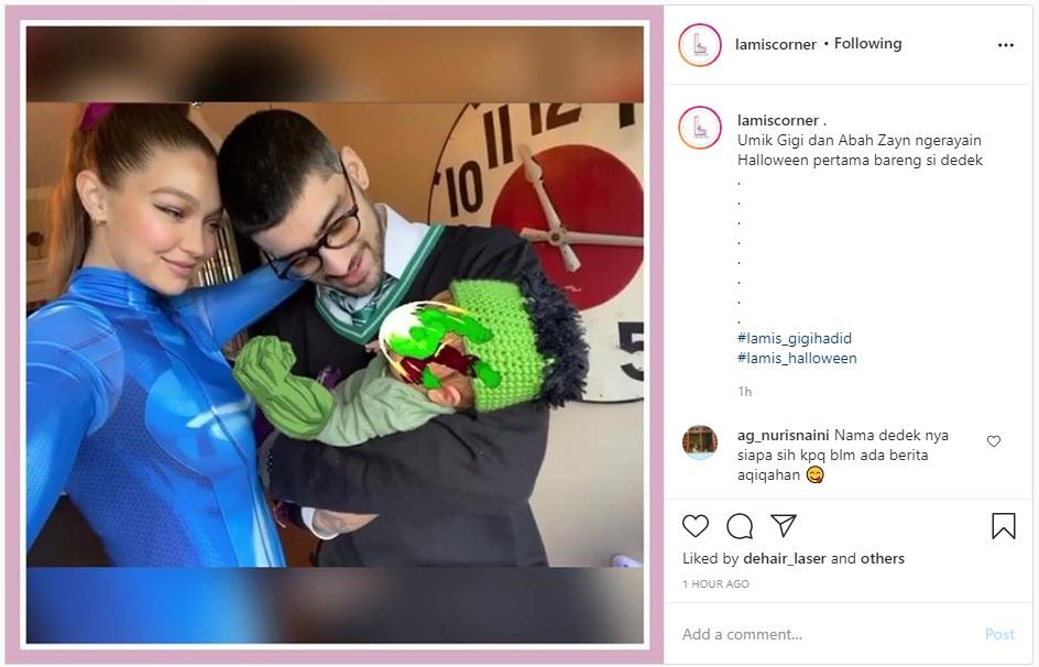 Gemas Gigi Hadid dan Zayn Malik Rayakan Halloween Pertama Bersama Putri Mereka - Foto 2