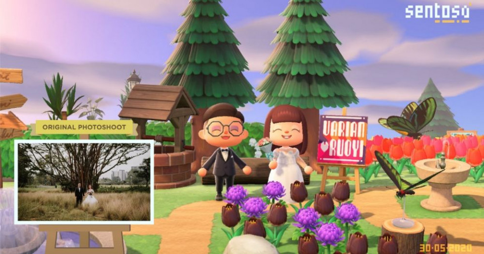 Unik Pasangan ini Lakukan Pernikahan Lewat Game Animal Crossing - Foto 2