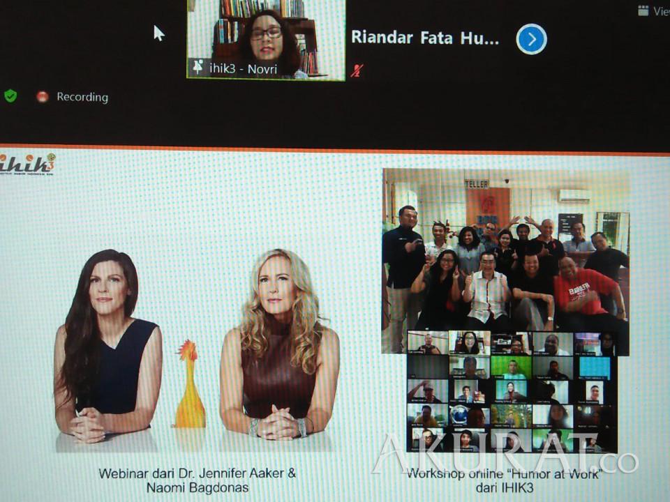 IHIK3 Adakan Webinar Pakar Humor dari Standford Graduate School of Business - Foto 1