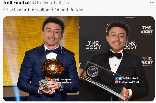 5 Meme Lucu Jesse Lingard yang Mengocok Perut, jadi Ronaldo Brasil - Foto 1