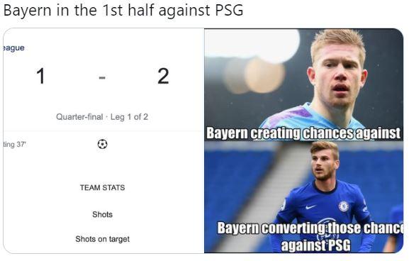 7 Meme Lucu Kekalahan Bayern dari PSG, Sane Memble tanpa Pep Guardiola - Foto 1