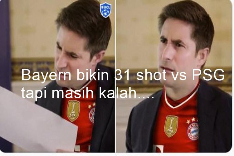 7 Meme Lucu Kekalahan Bayern dari PSG, Sane Memble tanpa Pep Guardiola - Foto 5