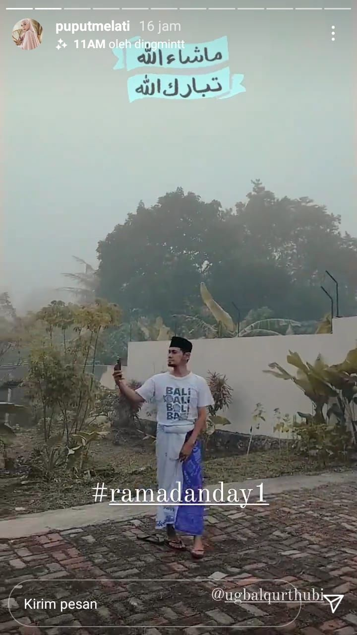 Nyaris Cerai, Puput Melati Pamer Aktivitas UGB Memandang Awan - Foto 1