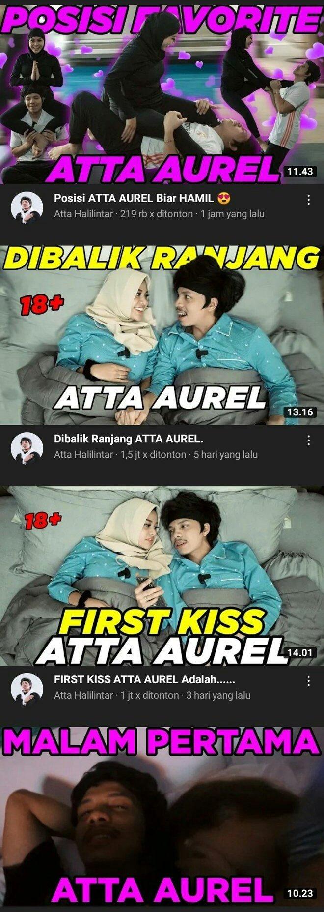 Warganet Protes Soal Konten YouTube Atta Halilintar - Aurel Hermansyah yang Vulgar - Foto 1
