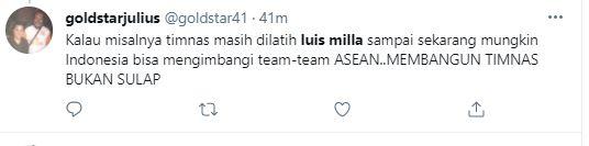 Tagar Luis Milla Trending, 5 Tweet Kangen Warganet kepada Mantan Pelatih - Foto 3