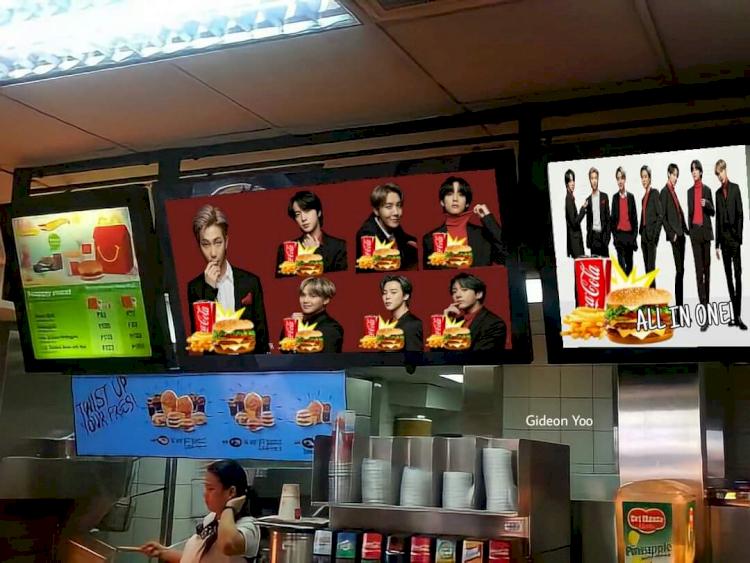7 Editan Kocak BTS Meal ala Warganet, Mukbang bareng Jungkook hingga Dilayani Taehyung - Foto 5