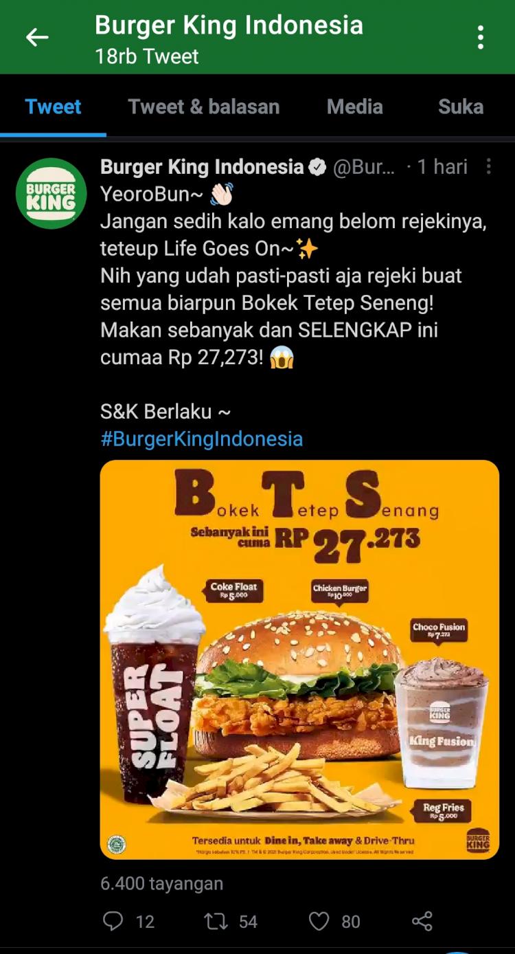 Gak Mau Kalah dari BTS Meal, Burger King Keluarkan Produk BTS lainnya - Foto 1