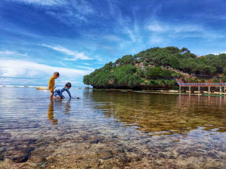 7 Pesona Pantai Drini Jogja, Cocok Dikunjungi Bareng Keluarga - Foto 4