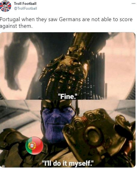 5 Meme Kocak Kekalahan Portugal dari Jerman, Bikin 4 Gol Kok Tetap Kalah - Foto 5