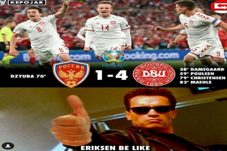 5 Meme Lolosnya Denmark ke 16 Besar Piala Eropa 2020, Bikin Eriksen Bangga - Foto 4
