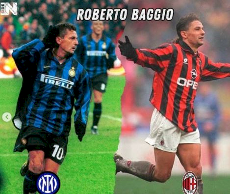 5 Foto Pemain Bintang yang Berseragam Inter dan Milan, Ada Pemain Juventus - Foto 2