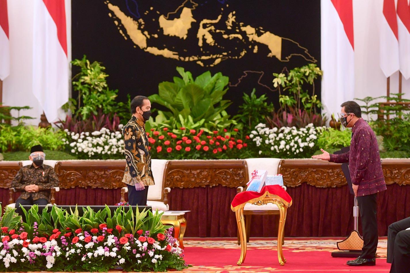 Presiden Jokowi Terima LHP LKPP 2020 dari BPK
