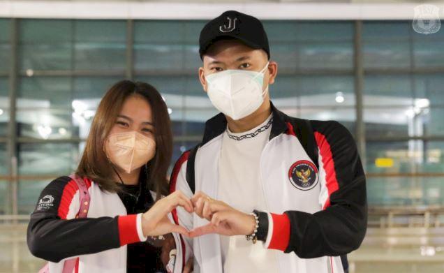5 Potret Tim Bulu Tangkis RI Bertolak ke Jepang, PraveenMelati Kasih Tanda Cinta - Foto 5
