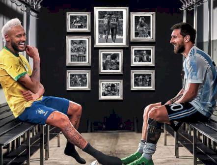 5 Ilustrasi Kece Neymar vs Messi di Final Copa America, Master vs Calon Penerus - Foto 5
