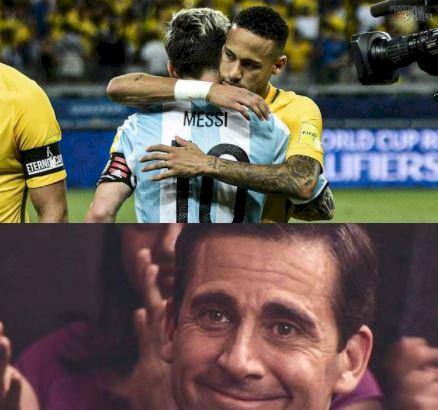 5 Ilustrasi Kece Neymar vs Messi di Final Copa America, Master vs Calon Penerus - Foto 4