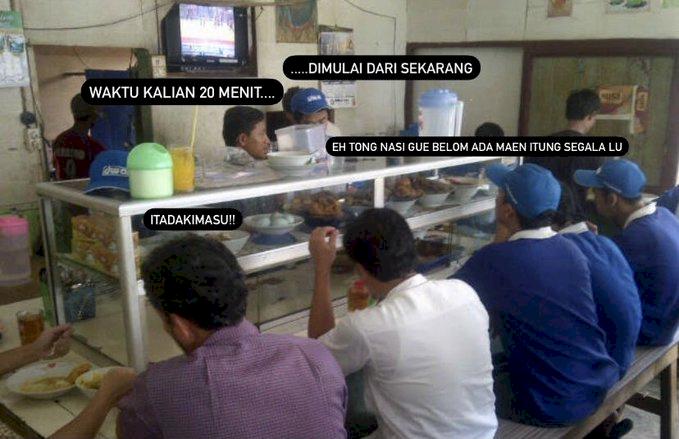 Kocak Abis, 5 Meme Peraturan PPKM Makan 20 Menit di Warung - Foto 2