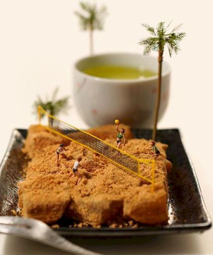 7 Potret Miniatur Olimpiade Karya Seniman Jepang dengan Obyek Makanan, Yummy... - Foto 6