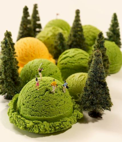 7 Potret Miniatur Olimpiade Karya Seniman Jepang dengan Obyek Makanan, Yummy... - Foto 3