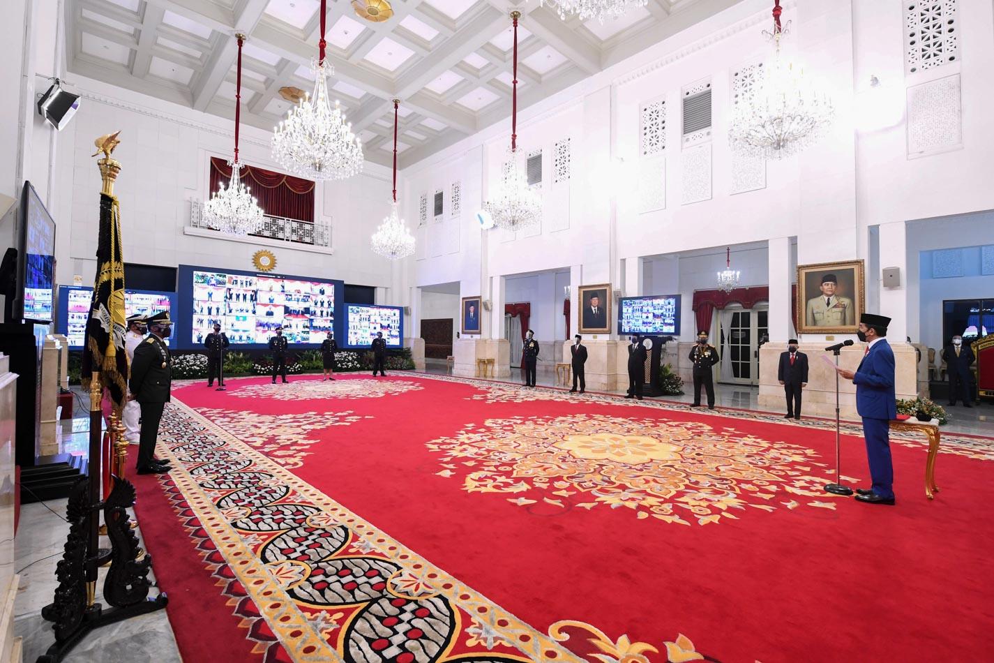 Presiden Jokowi Peringati HUT Bhayangkara dari Istana Negara