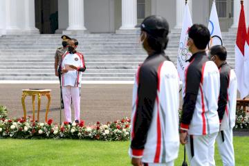 Presiden Jokowi Lepas Atlet dan Ofisial untuk Olimpiade Tokyo 2021