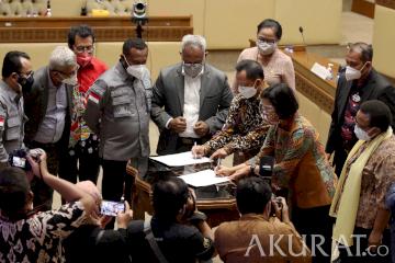 Pemerintah dan DPR Setujui Pengambilan Keputusan RUU Otsu Papua