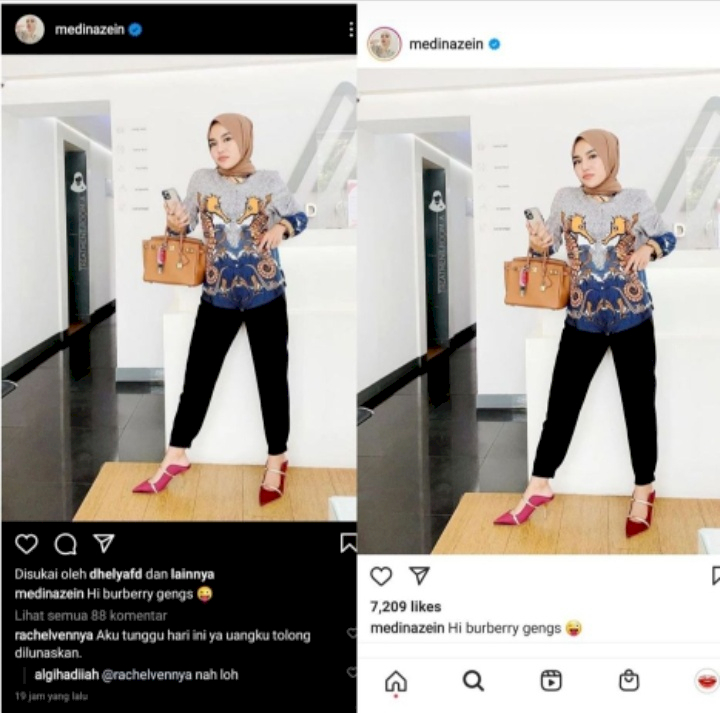 Rachel Vennya Tagih Utang Lewat Instagram, Medina Zein Langsung Tutup Kolom Komentar - Foto 1