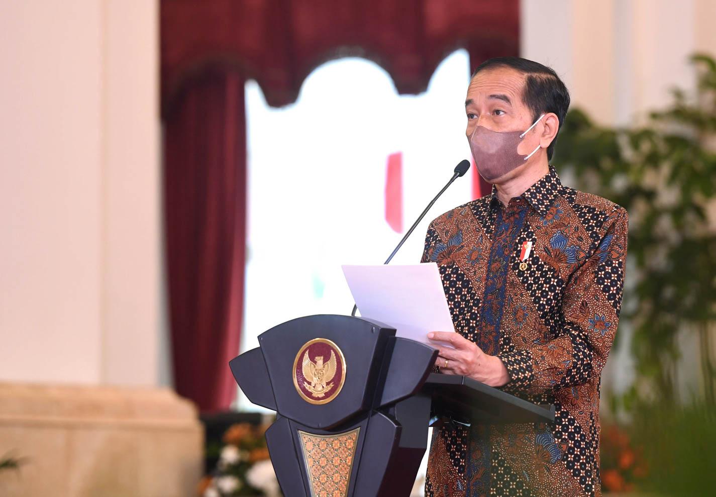 Presiden Buka Rakornas Pengendalian Inflasi 2021 di Istana Negara
