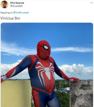 5 Meme Kocak Selebrasi Vinicius Jr, Seperti Superman... - Foto 3