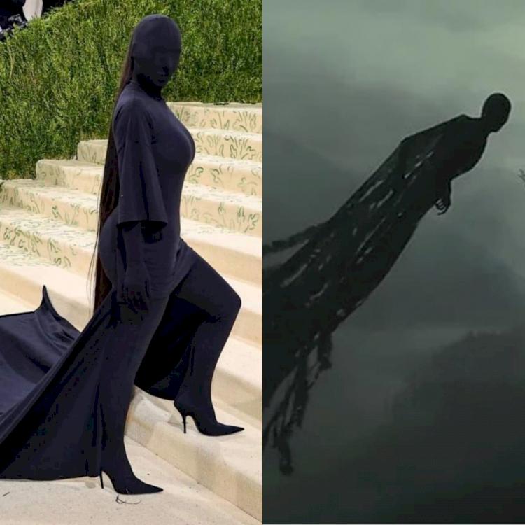 5 Potret Parodi Kim Kardashian di Met Gala 2021, Mirip Dementor - Foto 2