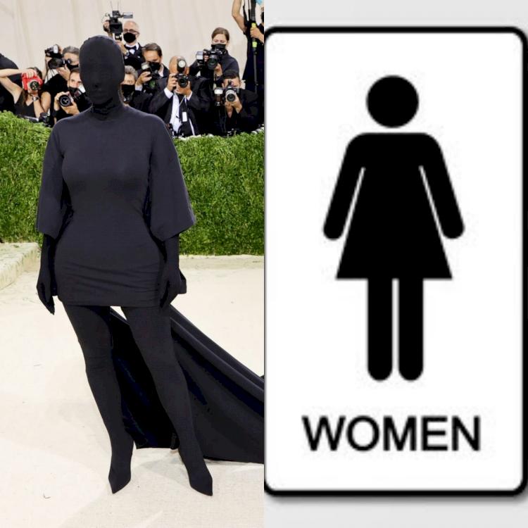 5 Potret Parodi Kim Kardashian di Met Gala 2021, Mirip Dementor - Foto 4