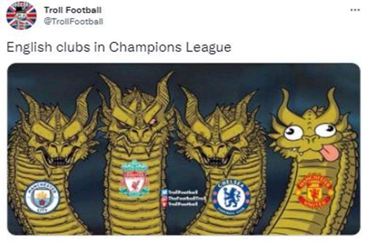 5 Meme Kocak Klub Inggris di Liga Champions, MU Sendirian Kalah - Foto 2