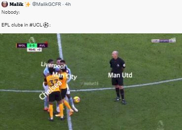 5 Meme Kocak Klub Inggris di Liga Champions, MU Sendirian Kalah - Foto 1